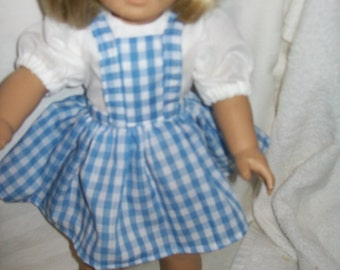 Dorothy costume  for your American girl doll