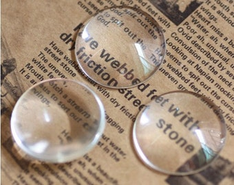 5pcs 50mm Clear Glass Transparent Clear Oblate Cabochon Cameo Cover Cabs Findings M