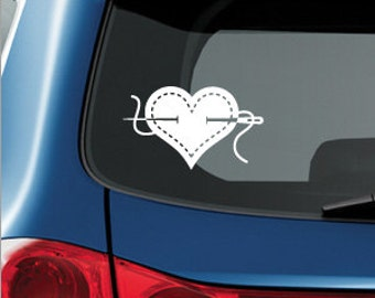 I HEART SEWING decal