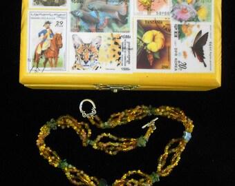 Woodland Garden Necklace, Yellow