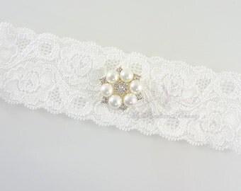 Wedding Garter, Single Bridal Garter, Garter, Rhinestone Garter Set, Crystal Garter, Handmade Garter, Beaded Garter GTA0062