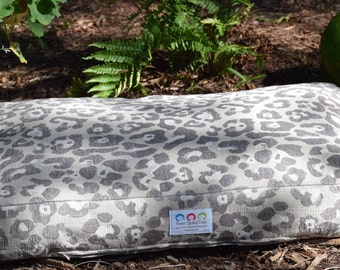 Watson Dog Bed * Neutral Animal Print * Medium Large * Custom Pillow Cover * Embroider with Pets Name * TSD