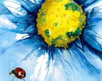 Limited Edition 'Ladybird and Blue' Giclée Print