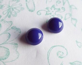Earrings vintage Astha Kiss blue
