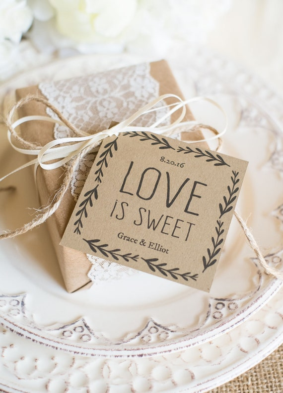 Rustic Wedding Favor TagsDOWNLOAD InstantlyEDITABLE TextLove ...