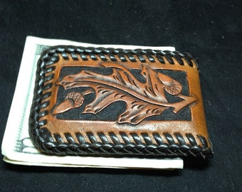 Magnetic Money Clip with acorn pattern