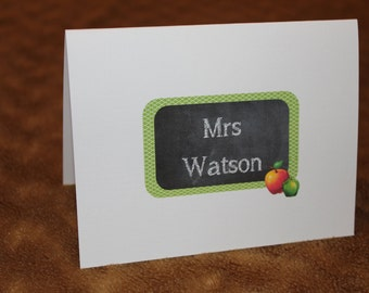 Personalized Note Cards - Stationary - Set of 12
