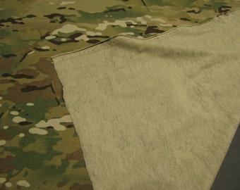 """Multicam T-Shirt Military Camouflage Poly T-Shirt Camo Fabric 55"""" Wide By The Yard 36"""" long"""
