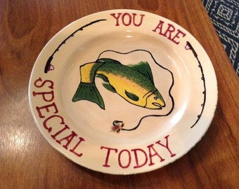 You Are Special Today Plate: Trout Edition