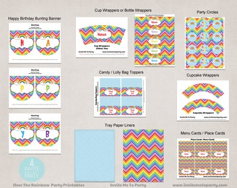 Over the Rainbow Party Decoration Printables