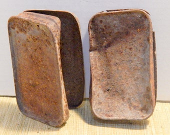 2 Rusty Boxes 100 Year Old  Display Photography Assemblage Altered Art or Sculpture Supplies