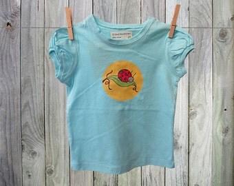 Sweet Ladybug Turquoise Juicy Roo T-shirt