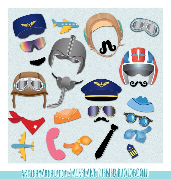 Clipart ( Digital ) | Airplane Party, Aviator, Aircraft, Aviation ...