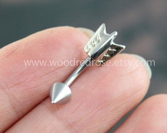 Silver Arrow Belly Button Jewelry Ring,Tribal Arrow Head,,little arrow belly button jewelry, friendship belly rings,summer jewelry