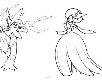 Gardevoir Coloring Pages Coloring Pages