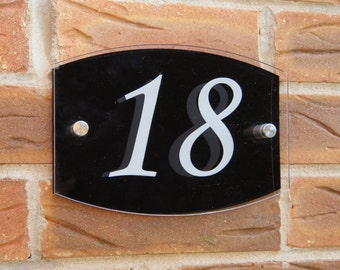 Modern Acrylic House Number Street Sign