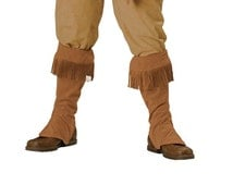 Frontier Faux Buckskin Shoe Covers - Frontier and Pioneer Costume Accessory - American Old West