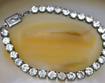 Sterling and Rhinestone Tennis Bracelet