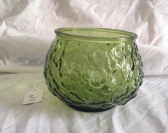 E O BRODY Green Glass Bowl