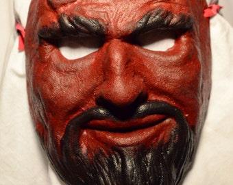 Vintage Style Devil Face Mask.  AKA Satan, Lucifer, Iblis... Hand Made. Free Shipping
