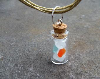 Sea glass pebbles, handmade jewelry, vial sea glass, beach pebbles, gifts for beach lovers, summer, beach jewelry, colors of the sea, glass