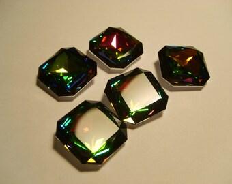 1 pc. Facetet Square 23mm Vitrail Medium Swarovski Crystallized 4675 SALE