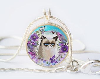 Angry cat Pendant 20 mm (0,8 inch)