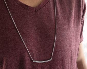 Men's Necklace - Men's Tube Necklace - Men's Silver Necklace - Mens Jewelry - Necklaces For Men - Jewelry For Men - Gift for Him