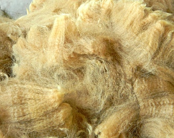 Raw Alpaca Fiber, Medium Fawn