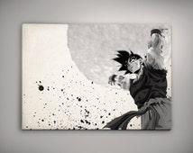 Goku Dragon Ball Anime Manga Watercolor Print Poster 11.70 x 16.50 A3 No377