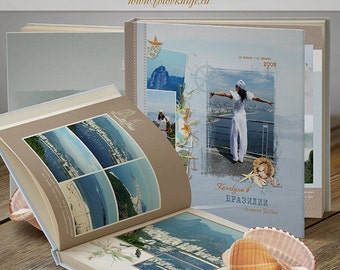 PHOTOBOOK - unforgettable journey- photo books in the classic stale - Photoshop Templates for Photographers. 12x12 Photo Book/Album Template