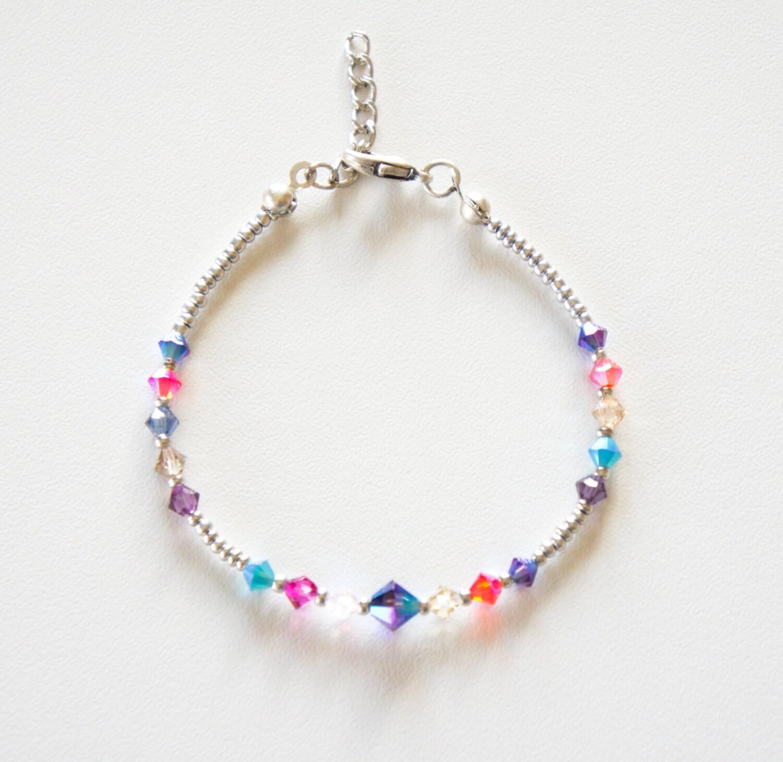 colorful swarovski bracelet seed bead by chooselikebuy