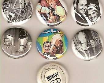 Mr. Ed The Famous Horse  7 Pins Button Badge Pinback