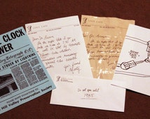 BTTF Back to the Future, Paper Prop Set