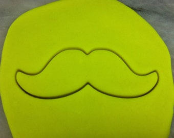Mustache Cookie Cutter - SHARP EDGES - FAST Shipping - Choose Your Own Size!