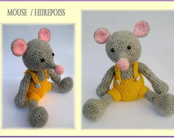 Amigurumi mouse-Mouse boy-Crochet stuffed animal