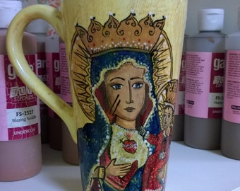 Our Lady of Czestochowa Hand-Painted Mug