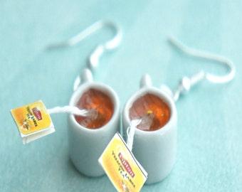 lipton tea earrings