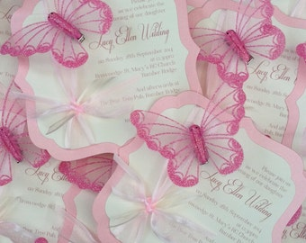 Ornate Butterfly | Wedding | Christening Invitations