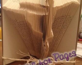 Book folding pattern for a BALLERINA