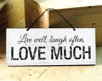 Wall Sign with Love Saying. Rustic Signs. Inspirational Signs. Rustic Wedding Gift. Rustic Home Decor. Mothers Day Gift. Ready to Ship
