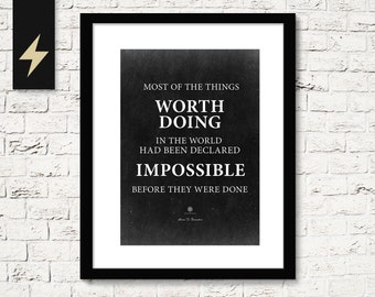 Inspirational Quote: Everything is possible, just don't listen to them. Inspirational wall art, Instant Download Printable Quote poster
