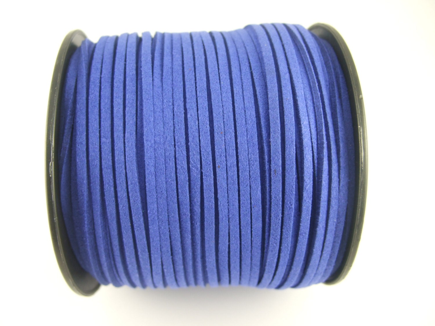 180a24859de1 100 Yards Royal Blue 2.5mm Flat Faux Suede Leather Long Cord for bracelet  necklace craft - SC30 from OrientFinds on Etsy Studio