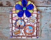 Vintage Cowgirl Mosaic Tile Wall Plaque