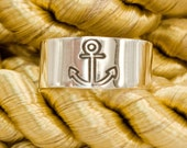 Silver Toe Ring - Anchor Toe Ring - Nautical Jewelry - Navy Wife - Adjustable Toe Ring - Wide Toering - Summer Sailing