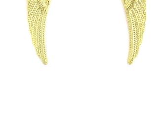 Birdhouse Jewelry - Gold Angel Wing Earrings