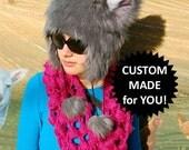 CUSTOM MADE for YOU: Monster Fur Wolf Ear Hat