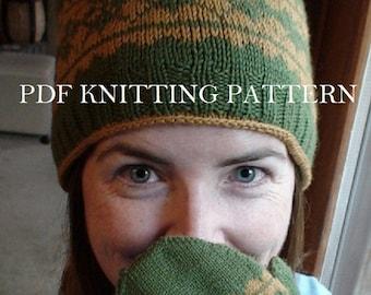 PDF Knitting Pattern - Argyle Cap