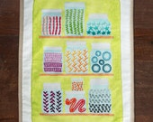 The Mason Jar Embroidery Sampler, Spring Green Panel