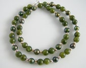 British Columbia Jade & Freshwater Pearls Necklace, Jade Jewelry, Single Strand Necklace
